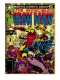Marvel Comics Retro: The Invincible Iron Man Comic Book Cover #127, Against the Super-Army! (aged)