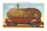 Giant Potato on Rail Car, Maine