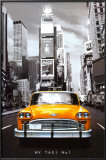 New York Taxi No. 1 Lamina Framed Poster