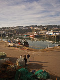 Fishermen in Fishing Harbour, Dunmore East, County Waterford, Ireland