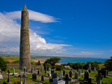 Round Tower in St Declan's 5th Century Monastic Site, Ardmore, County Waterford, Ireland
