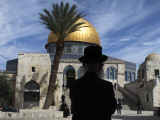 Ultra-Orthodox Jewish Man in the Al Aqsa Mosque Compound, known to Jews as the Temple Mount