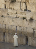 Pope Benedict XVI Stands Next to the Western Wall, Judaism's Holiest Site in Jerusalem's Old City