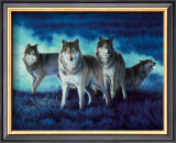 Wolf Group Framed Art Print