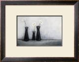 Three Black Vases