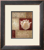 Patchwork Tulip Framed Art Print