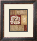 Patchwork Poppy Framed Art Print