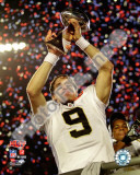 Drew Brees with the Vince Lombardi Trophy Super Bowl XLIV