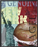 New York Bagel Framed Art Print