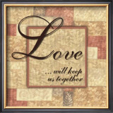 Words to Live By, Love Framed Art Print