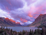 Spectacular Sunrise over Wild Goose Island in Glacier National Park, Montana, USA