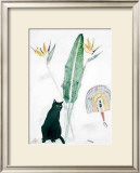 Black Cat and Strelitzia