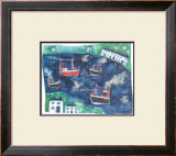 Puffing Along Framed Art Print