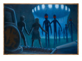 Cahill UFO Abduction Giclee Print