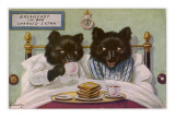 Bears Enjoy Breakfast in Bed