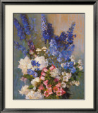 Larkspur, Peonies, And
