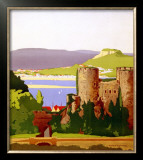 The Conway Estuary, North Wales, LMS Poster, 1923