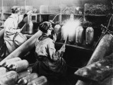 Women Workers Welding and Making Bombs in a Bomb Factory During World War I