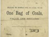 Whitby Parish Poor Relief Voucher for Coal