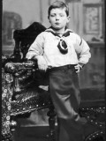 Winston Churchill Pictured as a Young Boy, Wearing a Sailor Suit