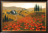 Hills of Tuscany II Framed Art Print