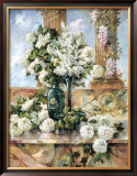 Hydrangeas in Bloom Framed Art Print