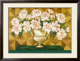 White Blooms Framed Art Print