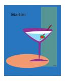 Martini en bleu