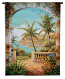 Tropical Terrace II Wall Tapestry