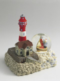 Figurine of a Lighthouse with a Snow Globe