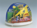 Close-Up of Figurines of Actors at Hollywood Set in a Snow Globe