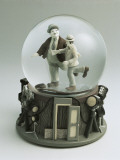 Laurel and Hardy's Figurines in a Snow Globe