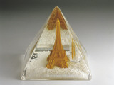 Figurine of Eiffel Tower in a Snow Globe