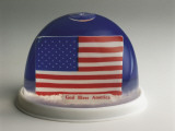 American Flag in a Snow Globe