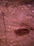 Pictograph of Native American Rock