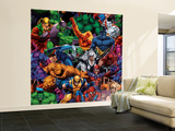 Marvel Heroes: X-Men, Hulk, Spider-Man, Fantastic Four, Daredevil and More, Pattern