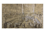 Album of the Coronation of Louis Xv: the Coronation