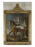 Equestrian Portrait of Louis Xv in 1723 (1710-1774)