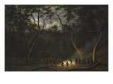 Dance of the Natives of Van Diemen's Land, Moonlight