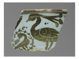 Fragment of a Bowl Decorated with Peacock (Fragment)