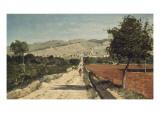 Landscape of Provence. View of Saint-Saturnin-Les-Apt