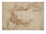 Two Naked Men Stretched, Perhaps to Study Crucified