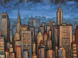Twilight Skyline Art Print