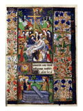 Manuscript of the Hours of Rohan-Montauban: The Descent from the Cross, And the Women at the Tomb