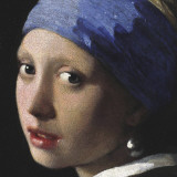 Girl with a Pearl Earring (detail) Art Print