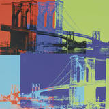 Brooklyn Bridge, c.1983 (orange, blue, lime) Art Print