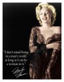 Marilyn - Man's World Tin Sign