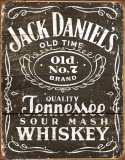 Jack Daniels - Woodcut Logo - Tin Sign