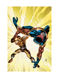 New Thunderbolts No.8 Cover: Shocker and Speed Demon Fighting