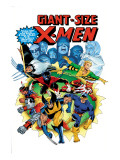 Giant-Size X-Men No.3 Cover: Wolverine, Cyclops, Nightcrawler and Sunfire Charging